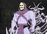 Esqueleto tentando dominar o castelo de Grayskull