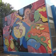 Pintura mural geometricista - Campus da UFRN