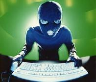 Hacker roubando informações.