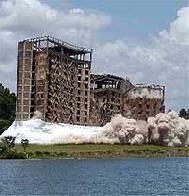 Implosão de um prédio