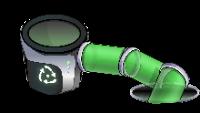 Lixeira de Nanoreciclagem como visto em Mundo Ultimate News Cp.